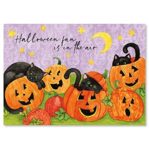 Jacks and Cats Halloween Cards