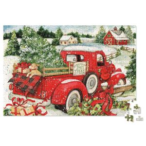Snowy Red Truck Puzzle
