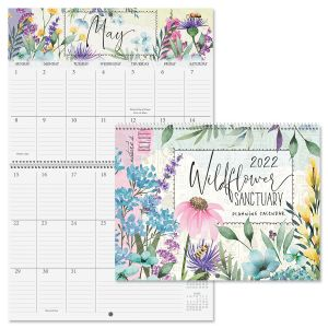 2022 Wildflower Sanctuary Big Grid Planning Calendar