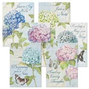 Hydrangea Thinking of You Greeting Cards Value Pack