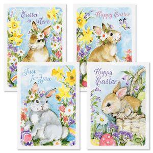Bunnies & Eggs Easter Cards