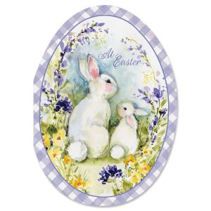 Bunny Pair in Egg Easter Cards