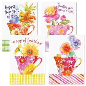 Teacups Brights Friendship Cards and Seals