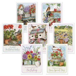 Birdhouse Birthday Greeting Cards Value Pack