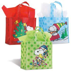 PEANUTS Small Holiday Tote Bags - BOGO