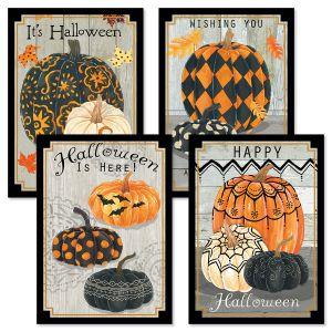 Painted Pumpkin Halloween Cards