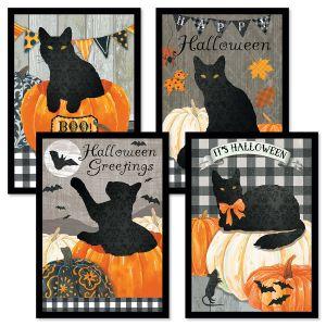 Cat Silo Halloween Cards