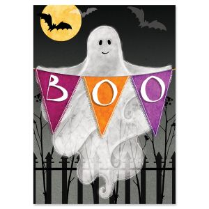Boo Ghost Halloween Cards