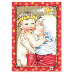 Rejoice Mother & Child Religious Christmas Cards
