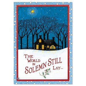 Solemn Stillness Religious Christmas Cards