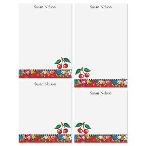 Mary Engelbreit's Cheery Cherry Personalized Notepads