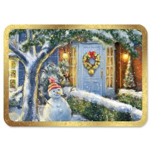 Holiday Welcome Deluxe Foil Christmas Cards