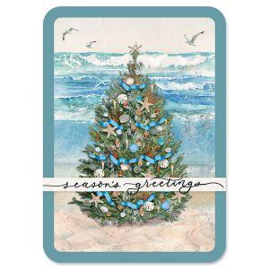 Beach Tree Christmas Cards