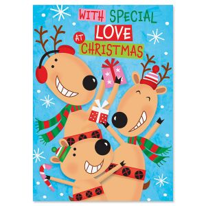 Reindeer Recordable Message Holiday Greeting Card