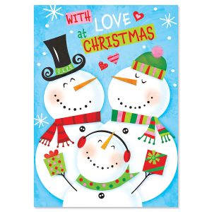 Snowman Recordable Message Holiday Greeting Card
