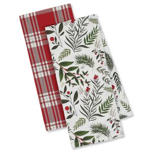 Holiday Sprigs Holiday Dish Towels
