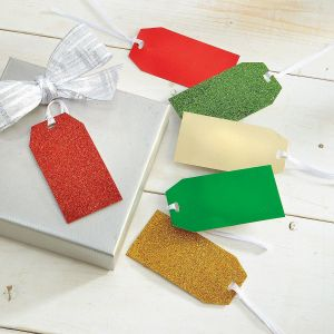 Red, Green, & Gold Gift Tags