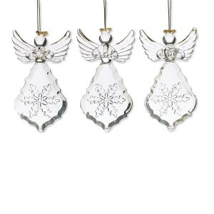 Glass Angel Boxed Ornament