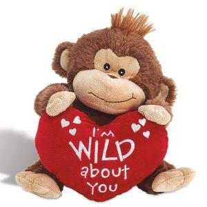 Plush Valentines Monkey