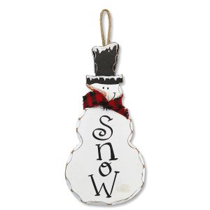 Snowman Plaque Christmas Décor