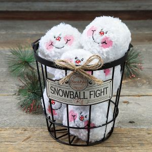 Indoor Snowball Fight Basket