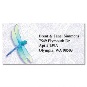 Dragonfly Lace Border Address Labels