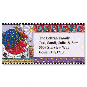 Believe Border Address Labels