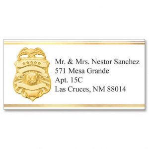 Badge of Honor Foil Border Address Labels