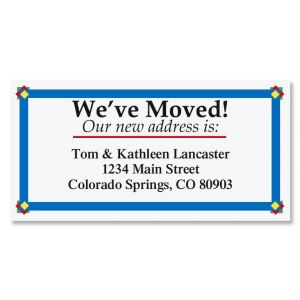We've Moved Border Address Labels