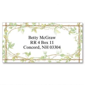 Vine Border Address Labels