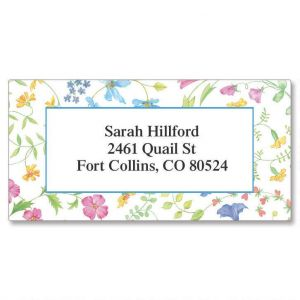 Delicate Floral Border Address Labels