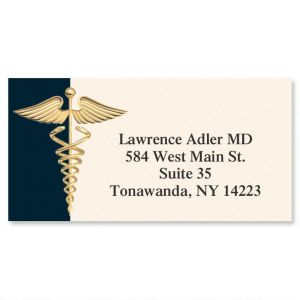Hippocratic Oath Border Address Labels