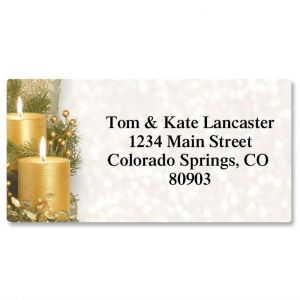 Golden Glimmer Border Address Labels