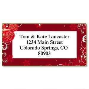 Scarlet Elegance Border Address Labels