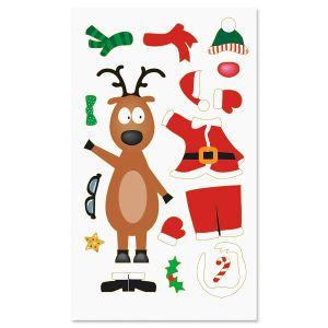Build a Reindeer Stickers
