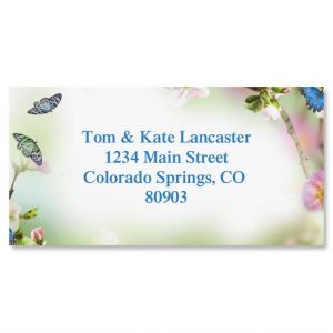 Butterfly Delight Border Address Labels
