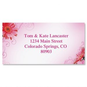 Grand Gerbera Border Address Labels
