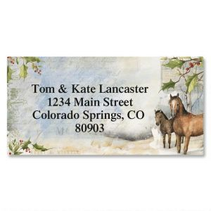 Horses Border Address Labels
