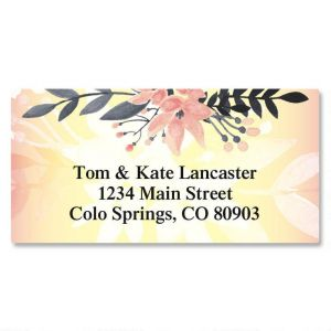Delicate Branch Border Address Labels