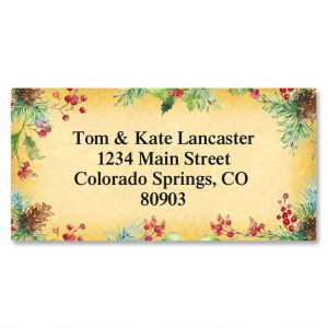 Botanical Joy Border Address Labels