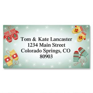 Mittens Border Address Labels
