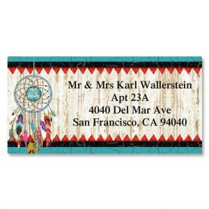 Dreamcatcher Border Address Labels