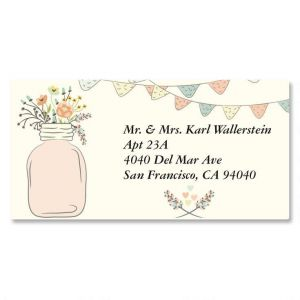 Mason Jar Border Address Labels