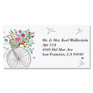 Summer Cycle Border Address Labels