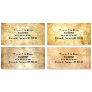 Old World Border Address Labels