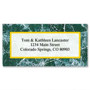 Green Marble Border Address Labels