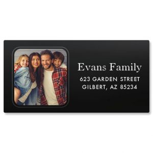 Modern Photo Border Address Label