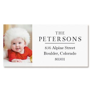 Classic Border Photo Personalized Address Labels