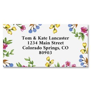 Sweet Blossoms Border Address Labels