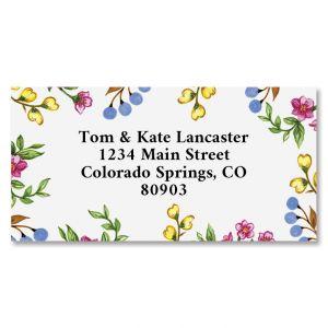 Sweet Blossoms Border Address Labels